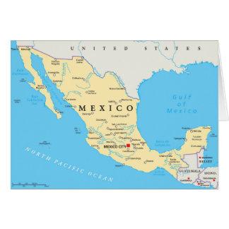Mexico Political Map Card