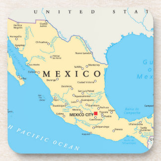 Mexico Political Map Coaster