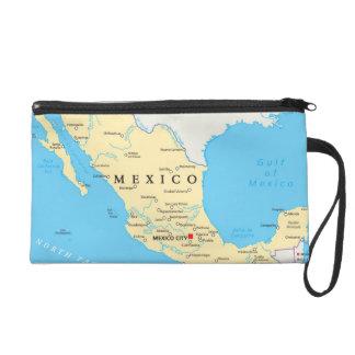 Mexico Political Map Wristlet