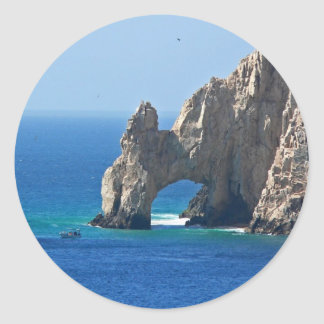 Mexico Postcard - Cabo San Lucas Classic Round Sticker