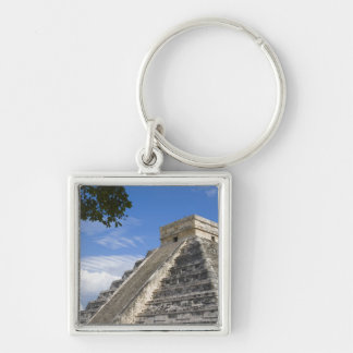Mexico, Quintana Roo, near Cancun, Chichen Silver-Colored Square Key Ring