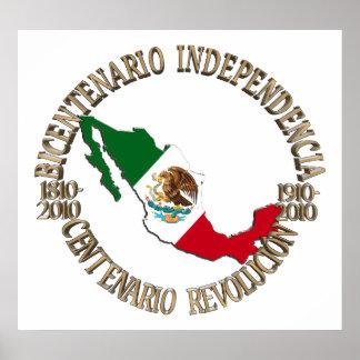 Mexico s Bicentennial Centennial Celebration Posters