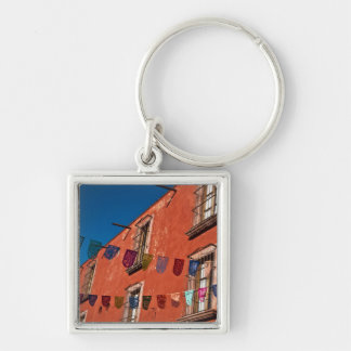 Mexico, San Miguel de Allende. Colorful banners Key Chain