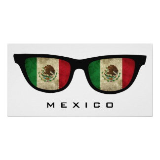 Mexico Shades custom text & color poster