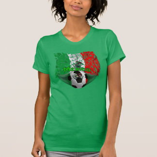 Mexico Shatters Soccer Ladies Jersey T-Shirt