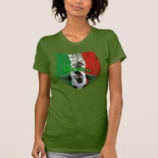 Mexico Shatters Soccer Ladies Tank Top