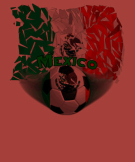 Mexico Shatters Soccer Men's Poly-Cotton T-shirt