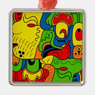 Mexico Silver-Colored Square Decoration