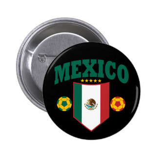 Mexico Soccer 6 Cm Round Badge