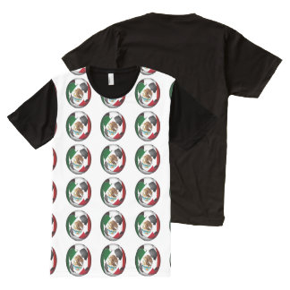 Mexico Soccer Ball All-Over Print T-Shirt