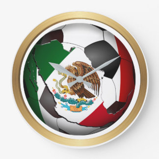Mexico Soccer Ball Large Clock
