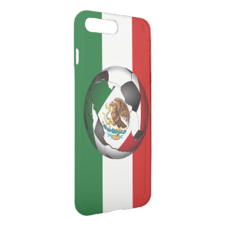 Mexico Soccer Ball with Mexican Flag Colors iPhone 7 Plus Case