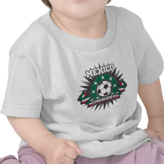 Mexico Soccer Burst Tee Shirts
