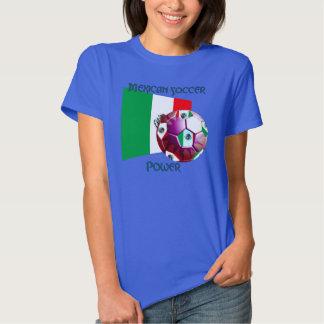 Mexico Soccer Power Ladies ComfortSoft T-Shirt