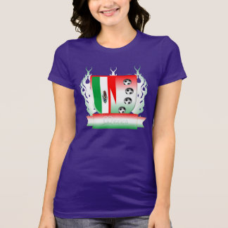 Mexico Soccer Shield3 Ladies Jersey T-Shirt