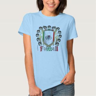 Mexico Soccer Tribal Shield Ladies Babydoll T T Shirts