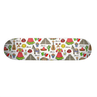 Mexico | Symbols Pattern 21.3 Cm Mini Skateboard Deck