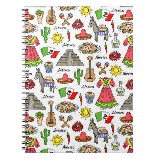 Mexico | Symbols Pattern Notebook