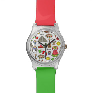 Mexico | Symbols Pattern Wrist Watch