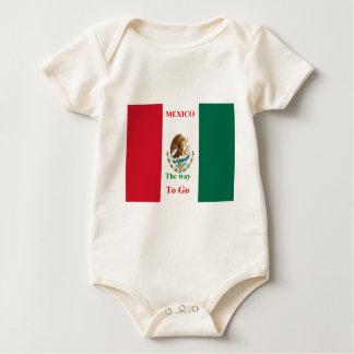 Mexico travel baby bodysuit