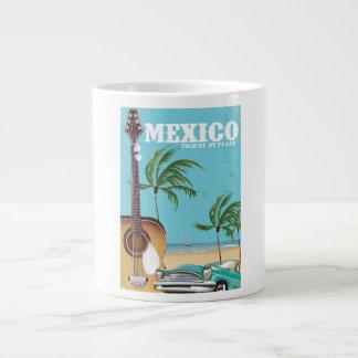 Mexico - travel By Plane travel poster Jumbo Mug