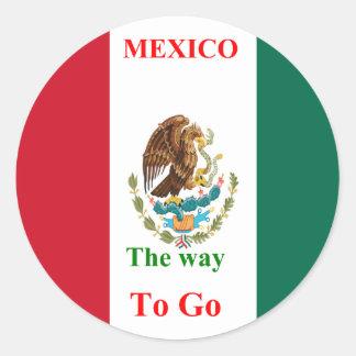 Mexico travel classic round sticker