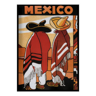 Mexico ~ Travel Poster Mexicans Zarapes