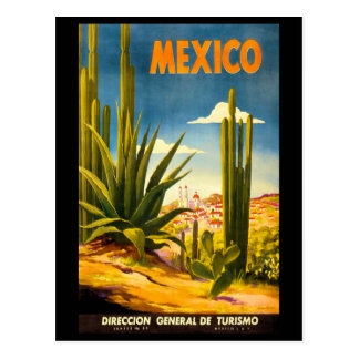 Mexico Travel Poster Postcard