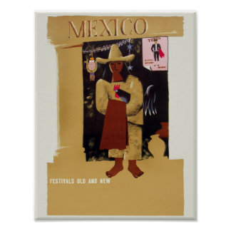 Mexico travel poster. poster