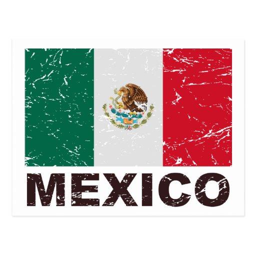 Mexico Vintage Flag Postcards