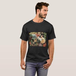 Mexico vintage image, Men's Basic Dark T-Shirt