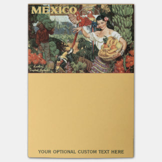 Mexico vintage travel Post-It notes