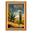 """""""Mexico"""" Vintage Travel Poster Card"""