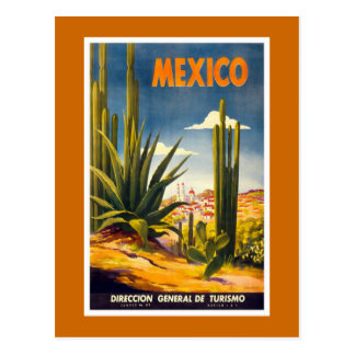"""Mexico"" Vintage Travel Poster Postcard"