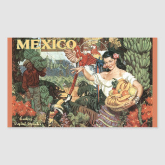 Mexico vintage travel stickers