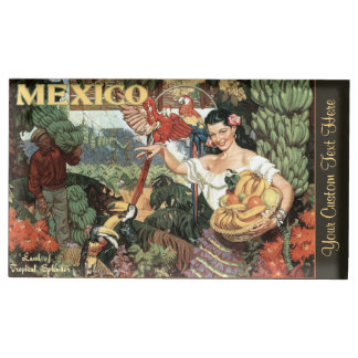 Mexico vintage travel table card holder