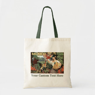 Mexico vintage travel tote bags