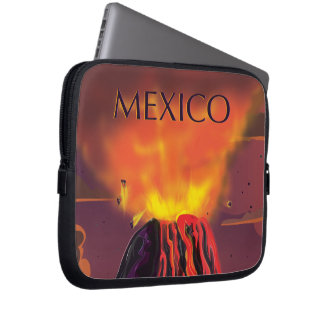Mexico Volcano Travel Poster Laptop Sleeves