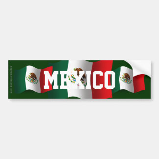 Mexico Waving Flag Bumper Sticker