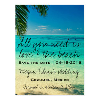 Mexico Wedding Save the Date Postcard