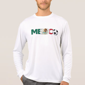 Mexico with Soccer Ball Micro-Fiber Long Sleeve Shirts