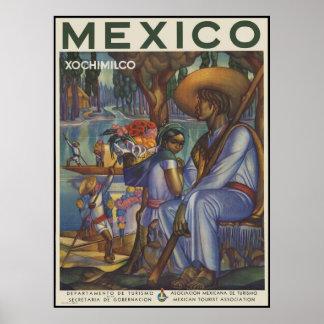 Mexico Xochimilco Poster