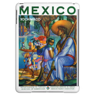 Mexico Xochimilco Vintage Poster Restored Cover For iPad Air