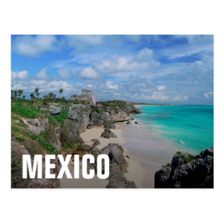 Mexico, Yucatan, Peninsula, Ruins Of Tulum, Mayan Postcard