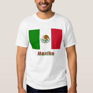 Mexiko Flagge mit Namen T Shirt