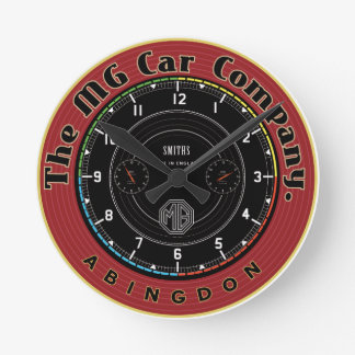 Mg Car Company Abingdon England Round Clock