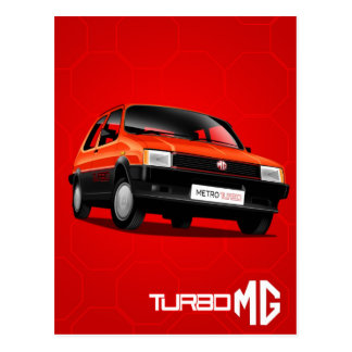 MG Metro Turbo Postcard