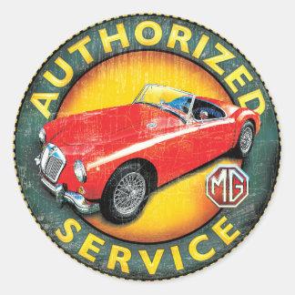 MGA roadster Classic Round Sticker