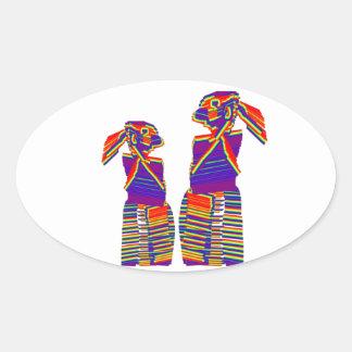 Mgadha n Mgadhee :  Happy Graphic Cartoon People Sticker