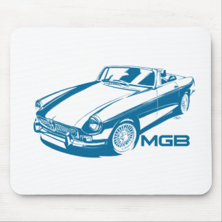 MGB blue Mouse Pad